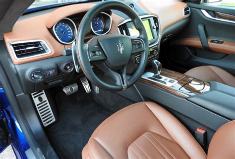 Maserati Ghibli Blue Interior