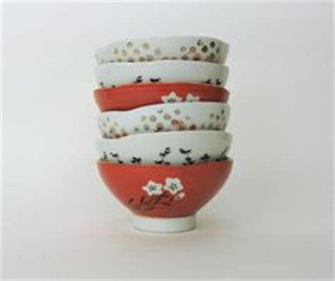 Yami Porcelain Cupping Bowl Orange vintage asian soup bowls rice bowls or sake cups spoons