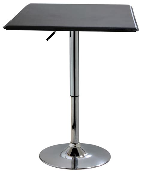 Adjustable Height Side Table by Amerihome Kitchen Room Square Adjustable Height Table