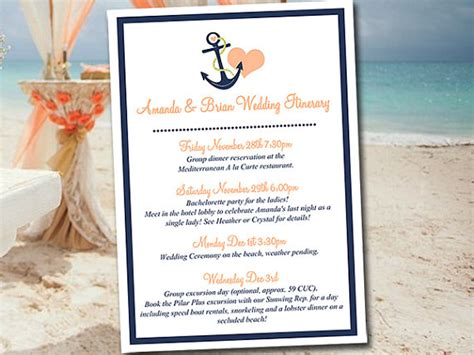 destination wedding itinerary template wedding itinerary template wedding planner anchor