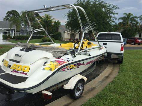 sea doo jet boat in saltwater powerboats motorboats jet boats 1997 for sale for