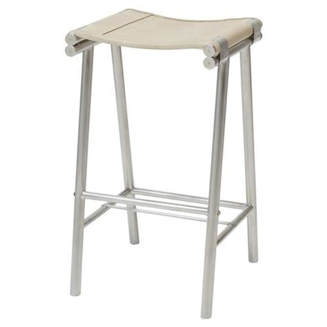 vintage steel industrial modern counter stool kathy kuo home salome industrial stainless steel cashew leather counter