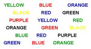 say the color not the word look below say the color not the word