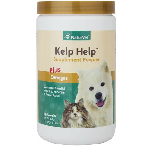 kelp for dogs order naturvet kelp help supplement powder 1 lb for dogs and cats