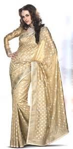 Engagement Sarees Beige Brown Engagement Banarasi Silk Saree Vihaanapparels Com