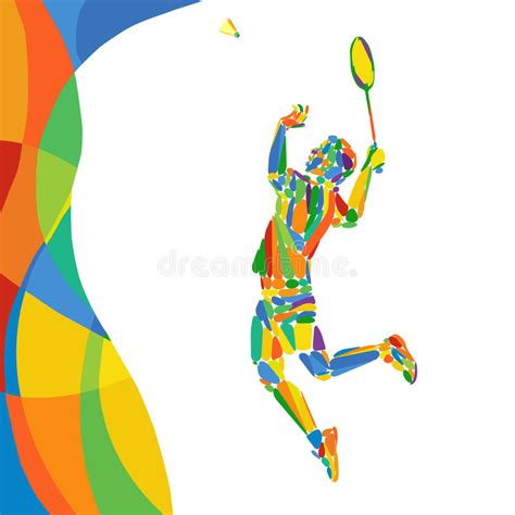 pattern outdoor games summer games abstract colorful pattern with badminton