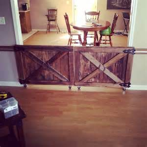 Diy Barn Door Baby Gate Custom Made Barn Door Rolling Baby Gates House Stuff For Dogs Puppys And