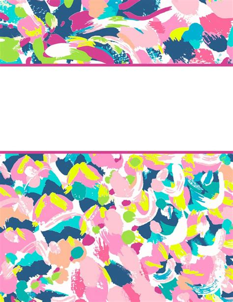 Lilly Pulitzer Binder Covers 2017 Free Cute Printable Binder Covers Lilly Pulitzer Binder Cover Templates