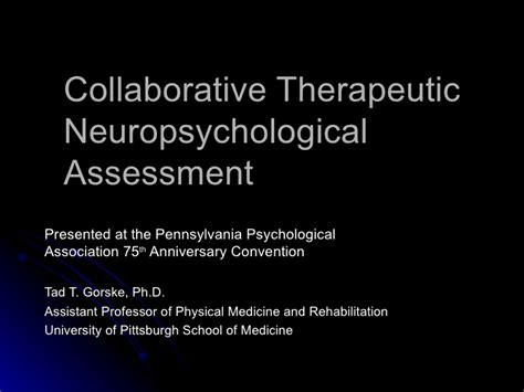 neuropsychological assessment report sle collaborative therapeutic neuropsychological assessment