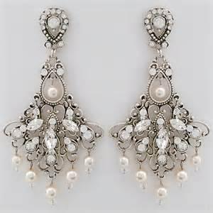 vintage chandelier earrings wedding jayne bridal earrings vintage wedding chandelier