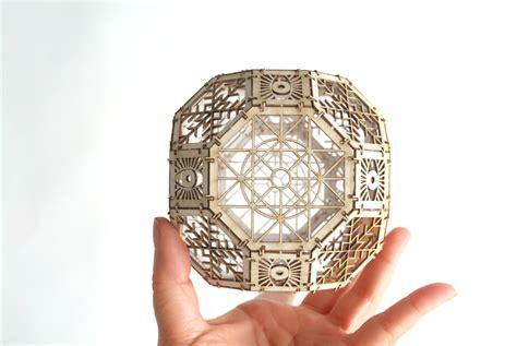 laser cut ornaments great rhombicuboctahedron model kit 3d laser cut sacred