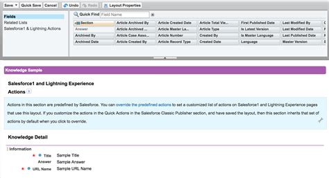 Page Layout Questions In Salesforce   page layout for knowledge salesforce stack exchange