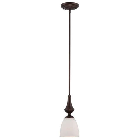 Frosted Glass Pendant Light Shade Glomar 1 Light Prairie Bronze Mini Pendant With Frosted Glass Shade Hd 5137 The Home Depot