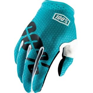 100 motocross gloves 100 itrack motocross gloves teal dirtbikexpress