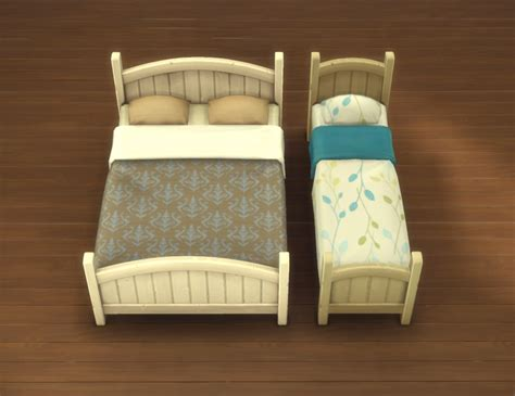 Mod The Sims Rustic Bed Frames Plastic Bed Frames
