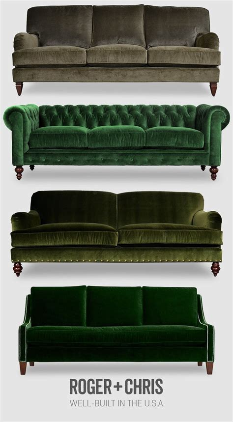 roger and chris sofa 17 best ideas about green sofa on pinterest velvet sofa