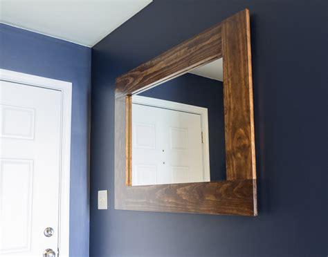diy framed mirror tutorial diy wood framed mirror tutorial