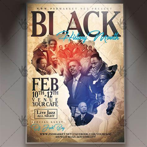 flyer design history black history month club flyer psd template psdmarket
