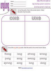 ng pattern password match esl phonics world ng ending worksheets