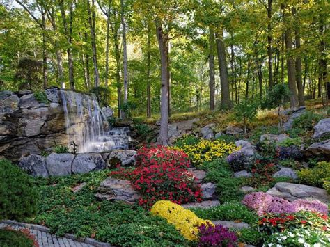 flowers gardens and landscapes 53 backyard garden waterfalls pictures of designs