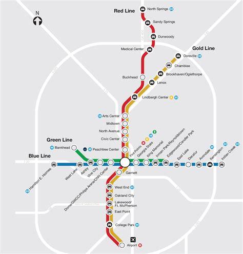 marta rail map marta