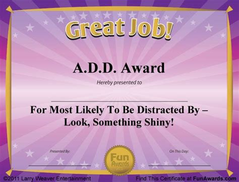 silly certificates awards templates free award certificates templates sle