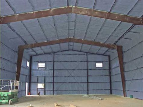 Insulated Workshop Shed by Quonset Workshop Garage Insulation Urecoat Inc