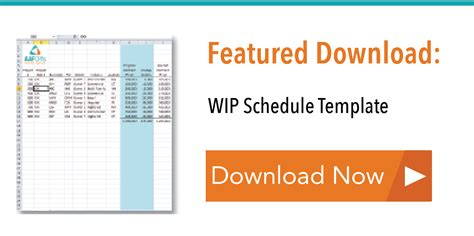 Construction Wip Is A Strategic Tool Wip Schedule Template
