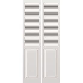 Louvered Closet Doors At Lowes Reliabilt 24 Quot W Louvered Solid Wood Interior Bifold Door