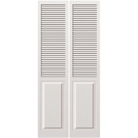 Interior Louvered Doors Lowes Reliabilt 24 Quot W Louvered Solid Wood Interior Bifold Door