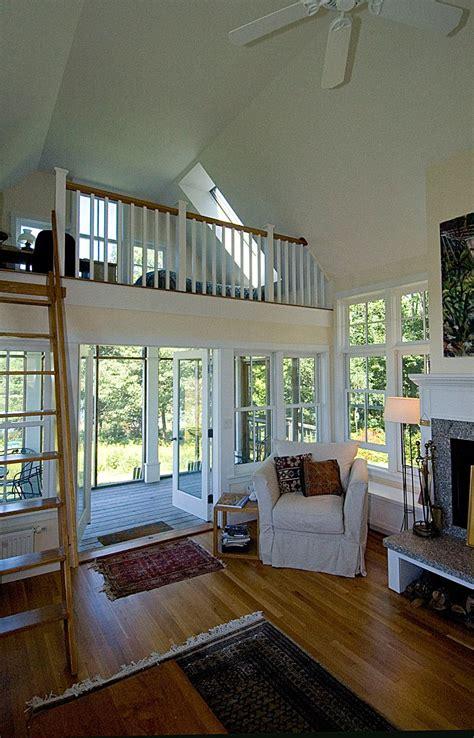 lovely small house  living room  loft bedroom