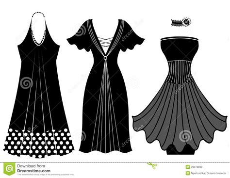 Id Silhouette Dress fashion dresses vector black silhouette isol stock vector image 29978839