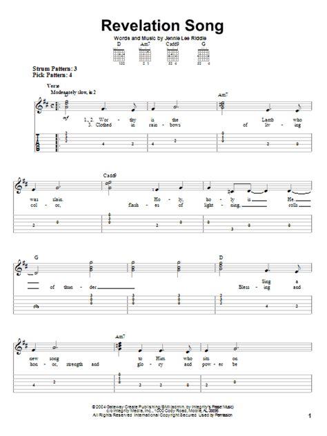 printable lyrics to revelation song revelation song sheet music direct