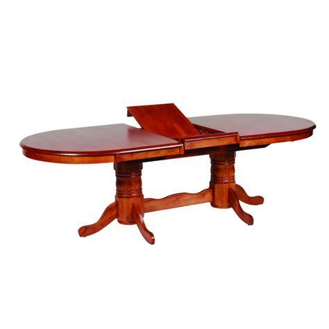jaguar oval dual pedestal extension dining table