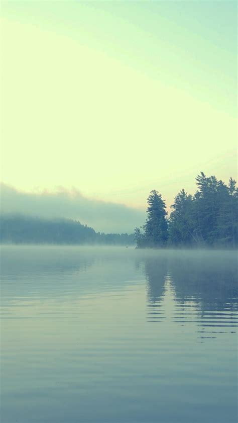 lake fog pastel iphone  wallpaper hd