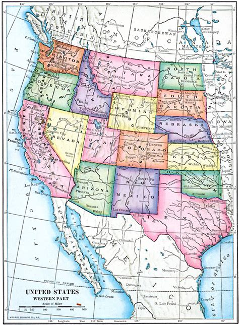map of western united states maps of the western united states