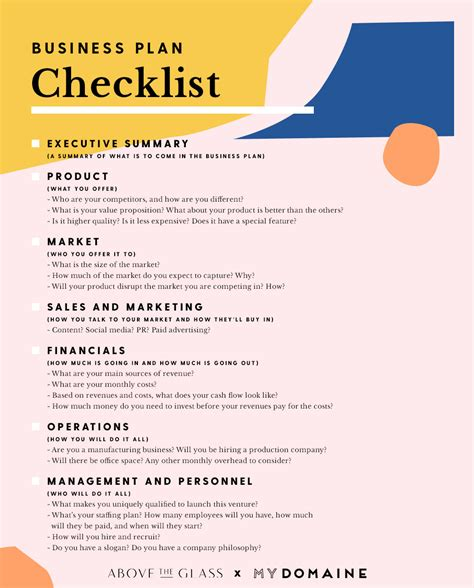 business plan checklist template this checklist will turn a great idea into a successful