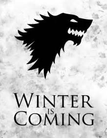 game of thrones winter is coming by letgodesign on deviantart