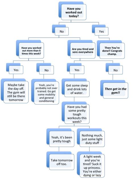today was a day flowchart 22 april 2013 collins strength and conditioning