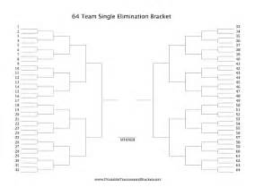printable 64 team single elimination bracket