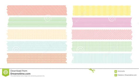 pattern making tape sweet line pattern masking tape collection stock vector