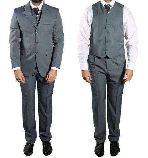 weste knopf offen elegante herren anzug weste muga 10 gr 90 grau ebay