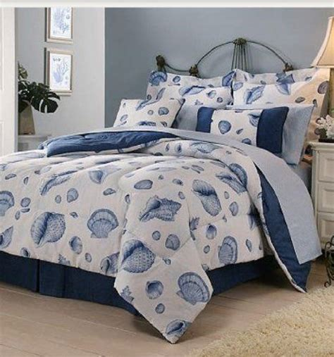 nautical bed in a bag seashells king comforter and bedding on pinterest
