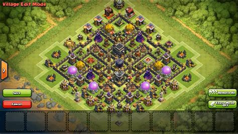 layout coc th9 clash of clans townhall 9 defense dark elixir coc th9