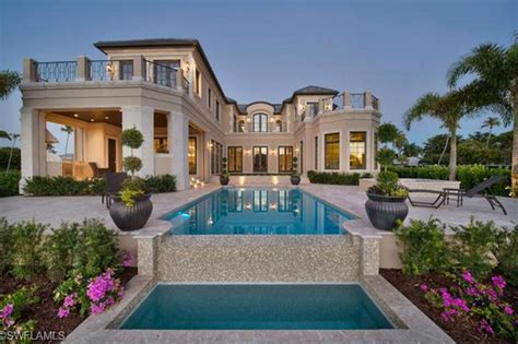 Hacienda House Plans 9 95 Million Newly Built Waterfront Mansion In Naples Fl