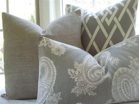 gray  tan pillows  family room family room