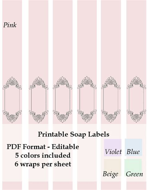 printable labels etsy printable soap labels wraps instant download by