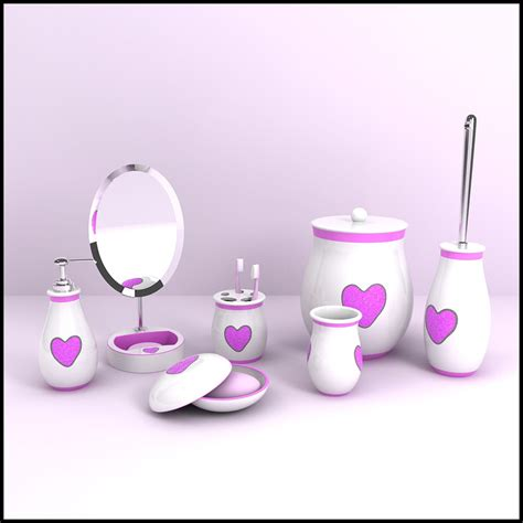 3d Models Bathroom Accessories Bathroom Accessories 3d Modern Bathroom Accessories Model