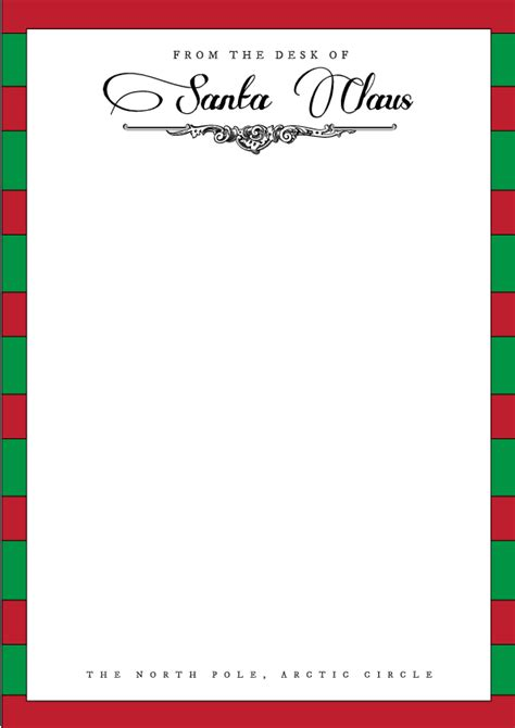 Letter From Santa Template Cyberuse Letters From Santa Templates Free