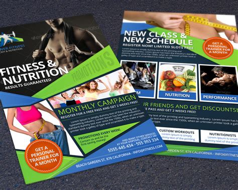 flyer template nutrition best fitness business flyers for gym marketing hollymolly